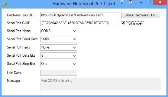 HubSerialPortClientActive