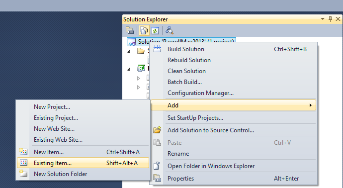 VisualStudioAddFiles