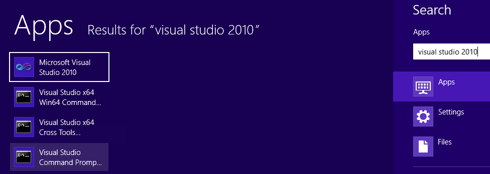 VisualStudioCommandPrompt