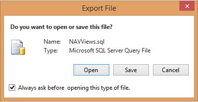 SQLExportFile